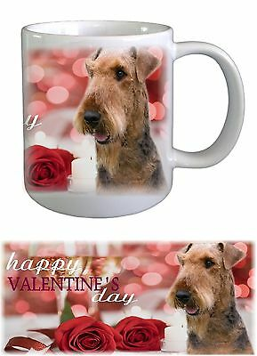 Airedale Terrier Dog Valentines Ceramic Mug by Paws2Print