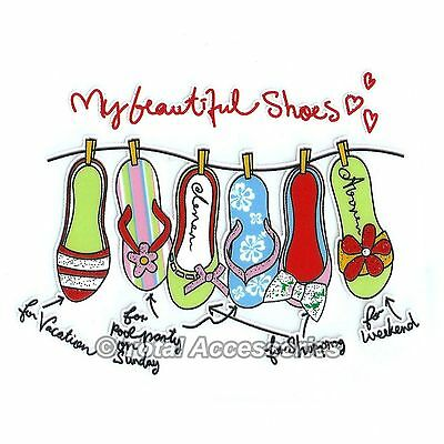 BEAUTIFUL SHOES COLLECTION - DIY Iron On T-Shirt Glitter Heat Transfer -NEW