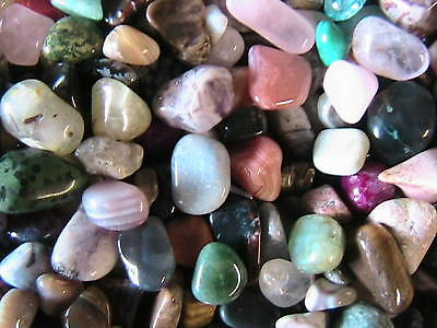 TUMBLED STONES 1/2 LB Polished Mix over 100 different stones Assortment