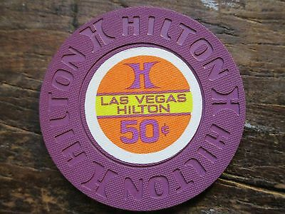 1ST Issue Las Vegas Hilton Uncirculated 50 Cent Casino Chip