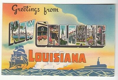 [51287] Old Large Letter Postcard Greetings From New Orleans, Louisiana