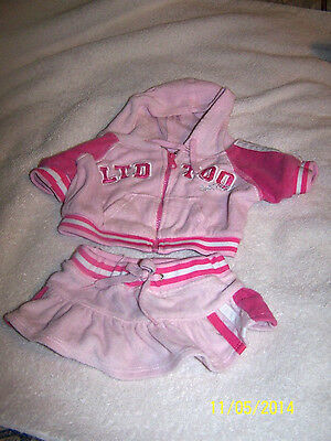 BUILD A BEAR SKIRT AND JACKET OUTFIT-PINK VERY CUTE SET-