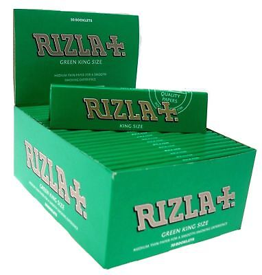 Genuine Rizla Green King Size Slim Rolling Paper Booklets Smoking Tobacco