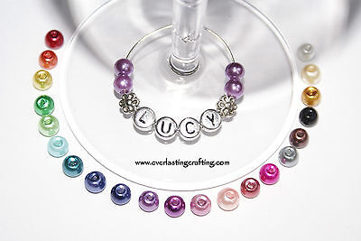 *Special Offers* Personalised Wine Glass Charm - FLOWERS