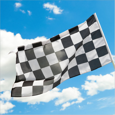 Giant Black & White Check Chequered Ska F1 Lewis Hamilton Flag