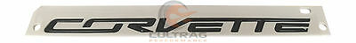 2014-2019 C7 Corvette Genuine GM Carbon Flash Black Corvette Rear Bumper Emblem