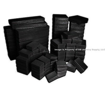 New Lot of 5 20 50 100 Black Swirl Cotton Filled Jewelry Gift Boxes Choose Size