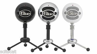 New Blue Microphones Snowball Glossy Black USB Microphone Mic Recording Vocals