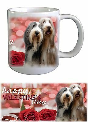 Bearded Collie Dog Valentines Ceramic Mug by Paws2Print