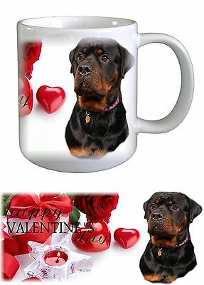 Rottweiler Dog Valentines Ceramic Mug by paws2print
