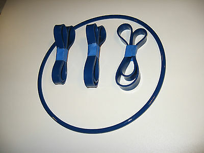 "3 BLUE MAX BAND SAW TIRES and 1 ROUND DRIVE BELT FOR BUSY BEE 14"" 3 WHEEL SAW"