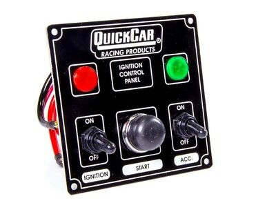 QuickCar Ignition Control Panel Black 2 Toggles/ 1 Push Button/ 2 Lights