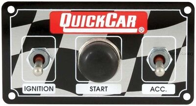 QuickCar Ignition Control Panel 2 Toggles/1 Push Button