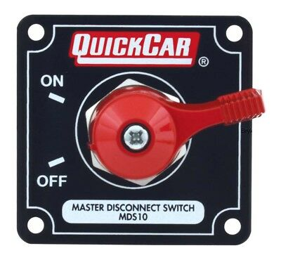 QuickCar Master Battery Power Disconnect Switch and panel BLACK Plate NHRA USMTS
