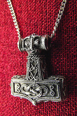 Thor's Hammer Thor Thors Mjollnir Viking Norse Medieval Pewter Pendant Necklace