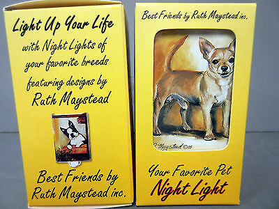 New Chihuahua Dog Night Light Set 2 Lights Chihuahuas Dogs by Ruth Maystead
