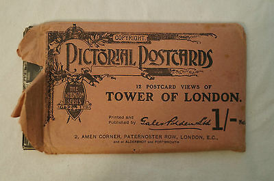 Vintage Postcard Souvenir Envelope - Tower of London - w/ 10/12 unused Postcards