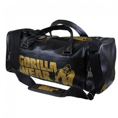 Gorilla Wear Gym Bag Gold Edition Sporttasche schwarz für Fitness Bodybuilding