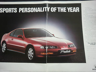 HONDA PRELUDE - 2 page COLOUR ADVERT