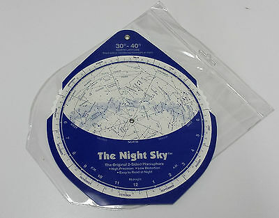 "David Chandler ""The Night Sky"" Planisphere - 30-40 degree north latitude - NEW!"