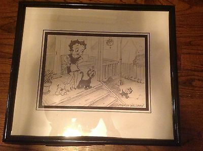Myron Waldman- Original - Betty Boop with Certificate Of Authenticity- Rare Find