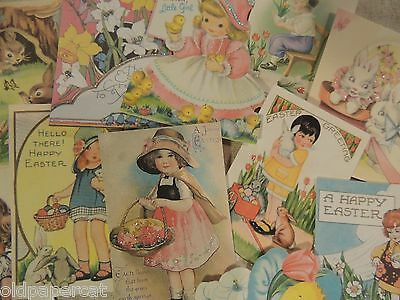 Lot of 12 Cute Vintage EASTER Die Cuts 4 Scrapbooking & Cards ~ E11 ~ FREE SHIP