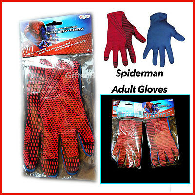 Spider-Man Gloves for Adults / Males / Superheroes Costume Accessory Marvel