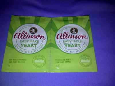 ALLINSON, Easybake Bread Yeast, two 7g sachets for bread makers & hand baking