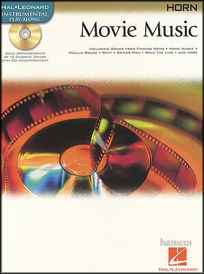 Movie Music French Horn Instrumental Play-Along Music Book & Backing Tracks CD