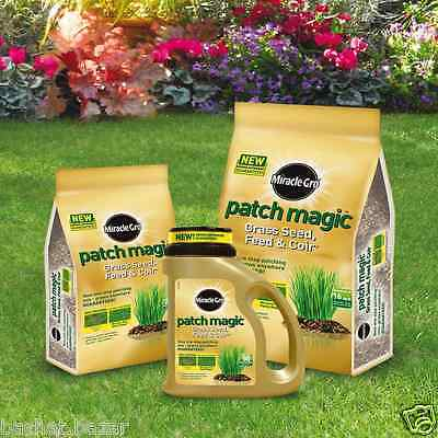 Miracle-Gro Patch Magic Grass Seed Feed & Coir Jug & Bag Garden Superior Quality