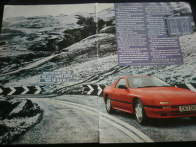 MAZDA RX-7 DYNAMIC TRACKING - 2 page COLOUR ADVERT