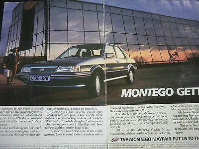 AUSTIN MONTEGO 2.0 MAYFAIR - 2 page COLOUR ADVERT
