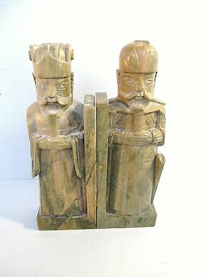 Antique Asian Chinese Soapstone? Book End Statues