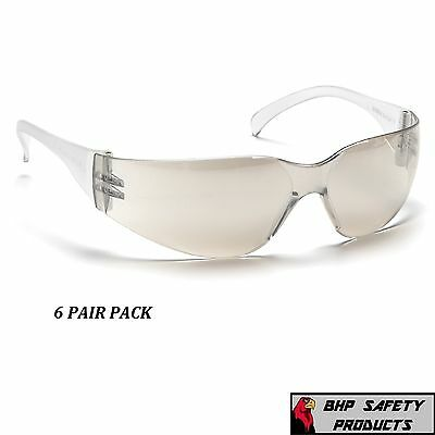 Safety Glasses Indoor/outdoor Mirror I/o Lens Pyramex Intruder S4180S (6 Pair)