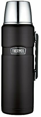 Thermos Stainless King 2-Liter Vacuum Insulated Beverage Bottle, Matte Black , N