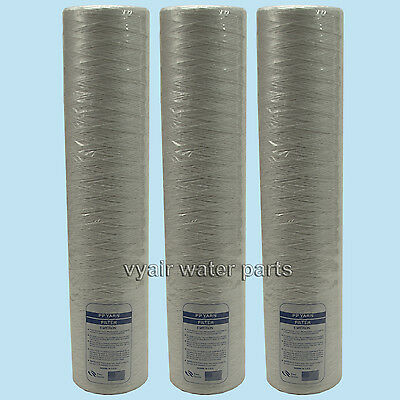 "3x 20"" Wound Jumbo Sediment/Particle Filter, For Water, Bio-Diesel, Veg Oil, etc"