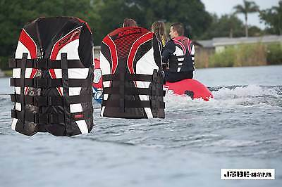 Jobe 2016 - Gilet nylon 4Buckle Vest Red - Norme CE ISO 50N-Taille XS à XXXL-PWC