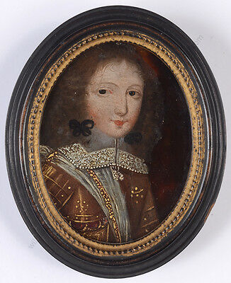"""""""Portrait of a young prince"""", Spanish (?) oil miniature, early 17th century"""