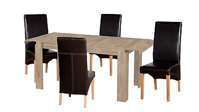 Dining Room Furniture Set Extend Able Table 4 & 6 Chairs Kitchen Unit Sonoma Oak