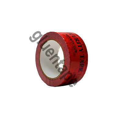 """Tamper Evident Security Tape 2"""" (50mm) x 55 Yards, 3.2 Mil, RED tape, 1 Roll"""