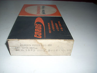 ROVER P6 2200 and 2200TC Cords piston ring set size STD