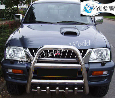 MITSUBISHI OUTLANDER BLACK AXLE NUDGE A-BAR BULL BAR GUARD 2007-2012