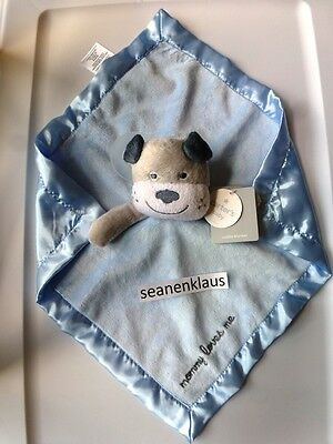 NWT Carter's White Gray Puppy Dog Bulldog Mommy Loves Me Blue Security Blanket
