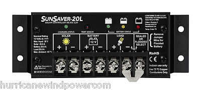 Morningstar  SS-20L-12V SunSaver 20 amp 12 volt Solar Charge Controller with LVD