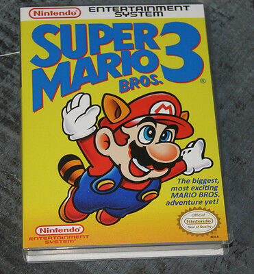 Super Mario Bros. 3 - NES Reproduction Art Case/Box No Game.
