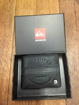 Genuine Mens Quiksilver Loaded Leather Wallet BNWTS In Black