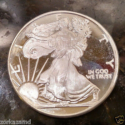 1 Troy Ounce .999 Fine Silver Round - Walking Liberty Design