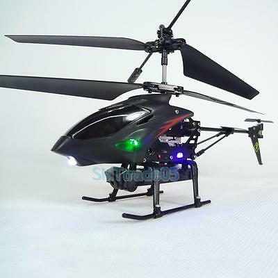 New 3.5 Ch Radio Remote Control RC Metal Gyro Helicopter with Camera Airplane #S