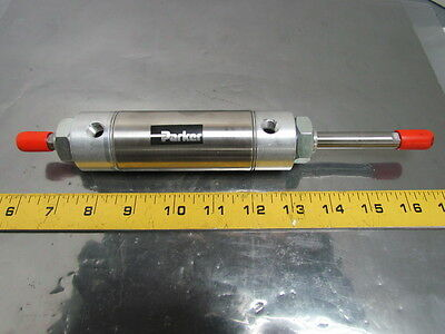 "1.50KDXSR02.0 Pneumatic Air Cylinder 1-1/2"" Bore 2"" Stroke Double Rod Stainless"