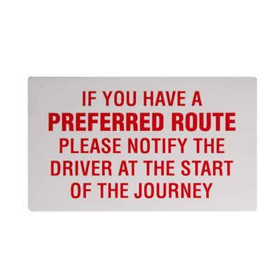 If You Have a Preferred Route... Taxi Driver Minicab Window Sticker